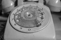 The rotary phone with black and white Royalty Free Stock Image