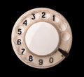 Rotary phone dial Royalty Free Stock Photo