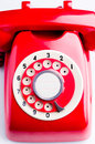 Rotary phone dial closeup shot Royalty Free Stock Images
