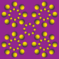 Rotating balls.optical illusion Stock Photography