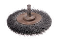 Rotating metal brush or grinding disk Royalty Free Stock Photography
