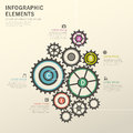 Rotation gear infographics design vector illustration abstract Stock Photo