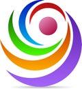 Rotation logo a vector drawing represents design Stock Photo
