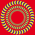 Rotation (Optical illusion) Stock Image