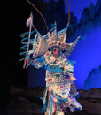 """The rotation of peking opera beijing opera"""" women generals of yang family"""" this tells a patriotic story how does an old woman Stock Photo"""
