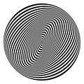 Rotation torsion circle design element. Royalty Free Stock Photo