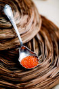 Roter Kaviar Lizenzfreie Stockfotos