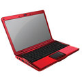 Roter laptop Stockbild