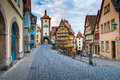 Rothenberg German traditional house with beautiful sunrise sky Royalty Free Stock Photo