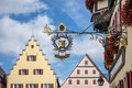 Rothenburg germany europe september marien apotheke hang hanging sign in on Stock Photos