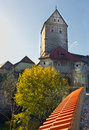 Rothenburg tower in dinkelsbühl Royalty Free Stock Photo