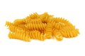 Rotini pasta isolated on white Royalty Free Stock Photo