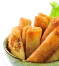 Rotoli di fried chinese traditional spring Fotografie Stock Libere da Diritti