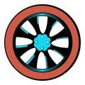 Rotor icon cartoon