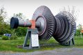 Rotor of a steam turbine internal exhibit at the technical museum spezer germany Stock Image