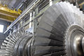 Rotor of a steam turbine internal at workshop Stock Photography