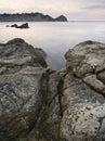 Rotsachtig Zeegezicht Stock Afbeeldingen
