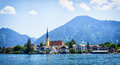 Rottach egern at the tegernsee bavaria germany Royalty Free Stock Images