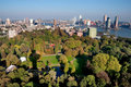 Rotterdam city and park from Euromast Royalty Free Stock Photography
