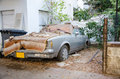 Rotting Lincoln Town Car 1981 Royalty Free Stock Photo