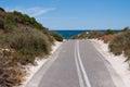 Rottnest island bike path is kilometres off the western australian coast near fremantle Royalty Free Stock Photography