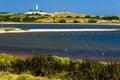 Rottnest island salt lake lighthouse australia Stock Image