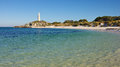 Rottnest lighthouse bathurst – one of two lighthouses on island western australia Stock Images