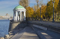 Rotunda on the moscow river embankment a fine autumn day Stock Images
