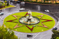 Roundabout in Malaga Royalty Free Stock Photo