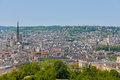 Rouen in a summer day under the blue sky Stock Photos