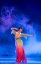 Rouged lips chinese classical dance graduation performance of class grade dancing department jiangxi vocational academy of art on Stock Photos