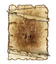 Rough antique parchment paper scrolls Royalty Free Stock Images