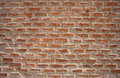 Rough brick wall detail of old red Royalty Free Stock Photo