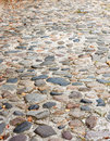 Rough Cobblestone Street Stock Photography
