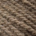 Rough Cord made from natural plant fiber. Rope detail, closeup. Square. Brown tone. Copy space. Wallpaper and background Royalty Free Stock Photo