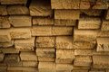 Rough cut lumber pile of stacked at a sawmill Royalty Free Stock Photo