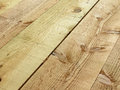 Rough cut wooden planks closeup of for background Stock Photography