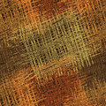 Rough grunge striped and checkered guilt colorful seamless pattern in orange brown green colors on dark backdrop Stock Image