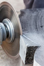 Rough machining of solid stone grinder hand Royalty Free Stock Photo