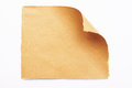 Rough paper curl sheet with corner Royalty Free Stock Photos