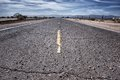 Rough road leading mojave desert east barstow california Royalty Free Stock Image
