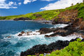 Rough and rocky shore at south coast of Maui, Hawaii Royalty Free Stock Photo