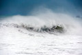 Rough sea with big wave breaking Royalty Free Stock Photo