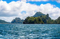 Rough sea, Cadlao island, el nido on Background, Palawan, Philippines Royalty Free Stock Photo