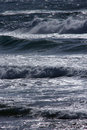 Rough seas choppy sea in is aruttas in sardinia Stock Images