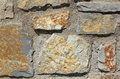Rough stone wall background Stock Image