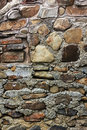 Rough stone wall texture from different materials Royalty Free Stock Image