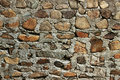 Rough stone wall texture from different materials Stock Image