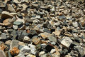 Rough stones in altai s mountains Stock Photo