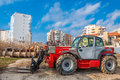 Rough terrain forklift machine telehandler Royalty Free Stock Photo